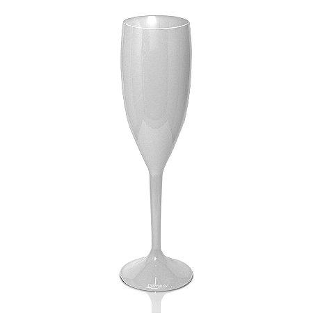 Taça Champanhe Branco 170ml - Poliestireno Acrilico PS