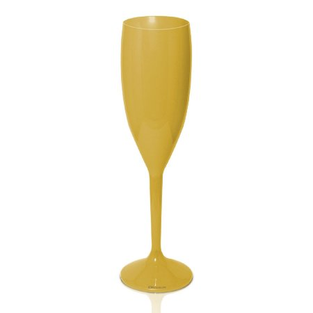 Taça Champanhe Dourado 170ml - Poliestireno Acrilico PS