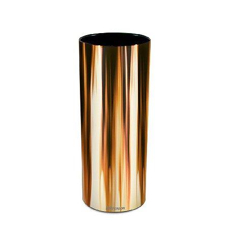 Copo Long Drink 300ml Metalizado Dourado  (Minimo de 100 peças para Personalizar)