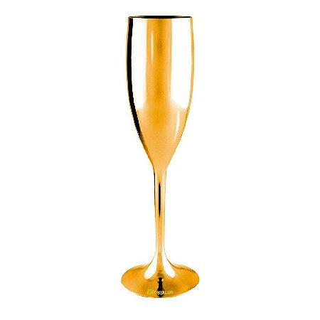 Taça Metalizada 170ml Dourada para Champagne (Minimo de 100 peças para Personalizar)