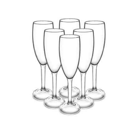 6 Taça Champagne Inquebráveis