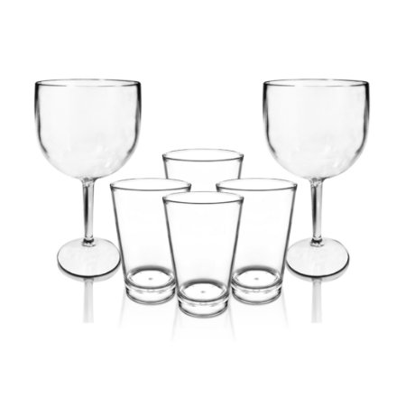 2 Taças Gin Inquebráveis + 4 Calderetas Inquebráveis