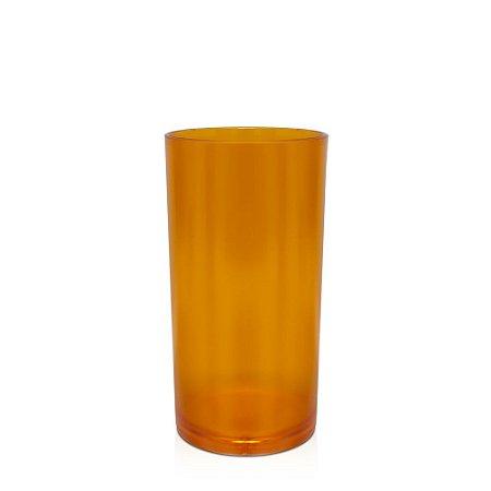 Copo Big Drink 500ml Laranja - Policarbonato Texturizado