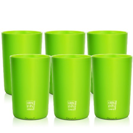 Green Cups 200ml - Kit 6 Copo Eco Cana de Açúcar (Verde)