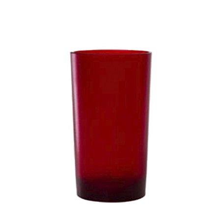 Copo Long Drink 280ml Vermelho - Policarbonato Texturizado