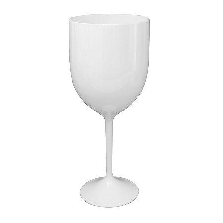 Taça Vinho 400ml Branca - Poliestireno Acrilico PS