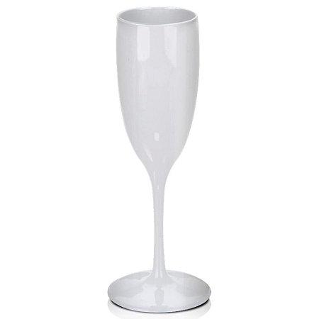Taça Champanhe Branca 160ml - Poliestireno Acrilico PS