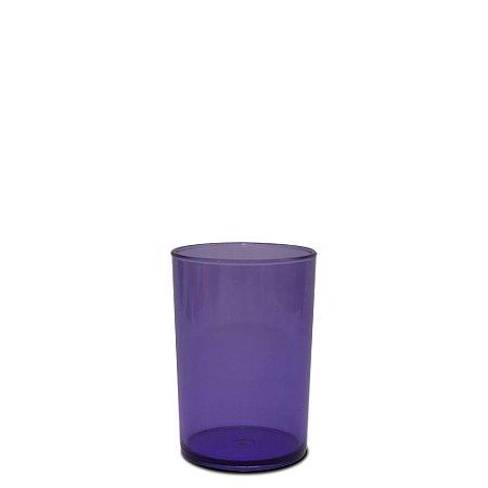 Copo Short Drink 200ml Roxo- Poliestireno Acrilico PS