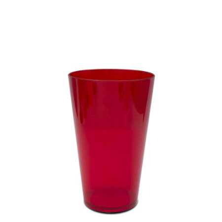 Copo Big Drink 550ml Vermelho - Poliestireno Acrilico PS