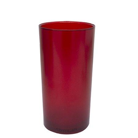Copo Big Drink 500ml Vermelho - Policarbonato Texturizado (Personalização apenas em PRETO)