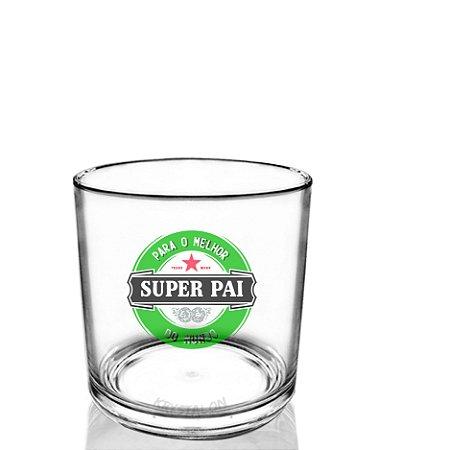 Copo Personalizado whisky 320ml Criativo Dia dos Pais Presente Lembrancinha - Super Pai