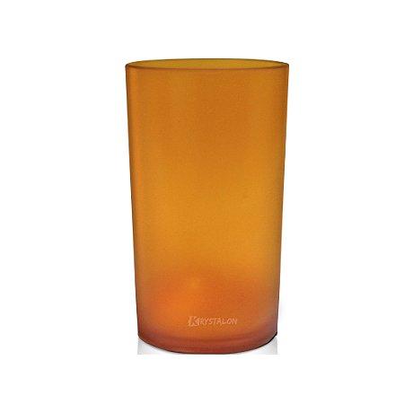 Copo Long Drink 280ml Laranja - Policarbonato Texturizado