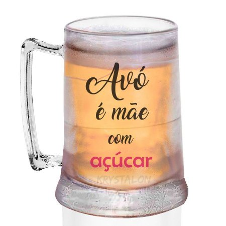 Caneca Gel Personalizada 400ml Criativo Dia das Mães Presente Lembrancinha -  Mãe com açucar