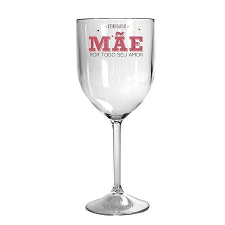 Taça de vinho colorida personalizada