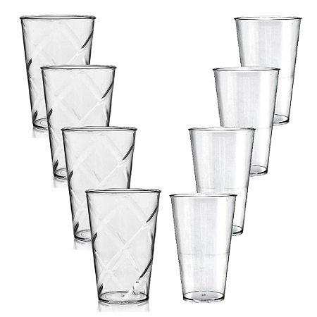 Kit 4 Copos com Big Drink 550ml e 4 Copos Drink 700ml Acrílico