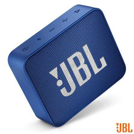 Caixa de Som Portátil Go 2 BLU JBL com Bluetooth e à Prova d´Água