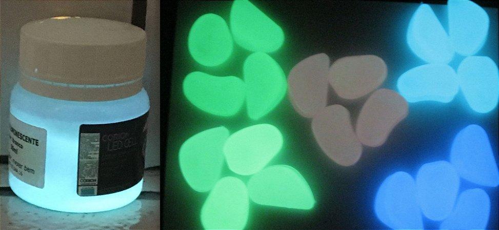 Tinta Glow Azul Esverdeada + Pedra Glow - KIT promocao