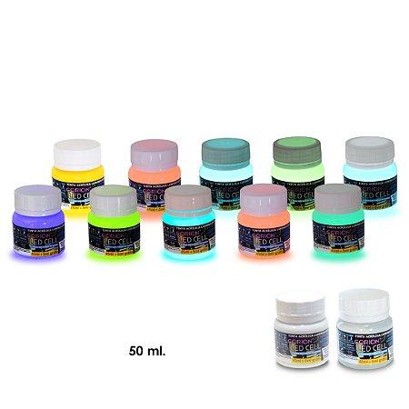 7 Potes Grandes Tinta Glow Kit com Frete Gratis