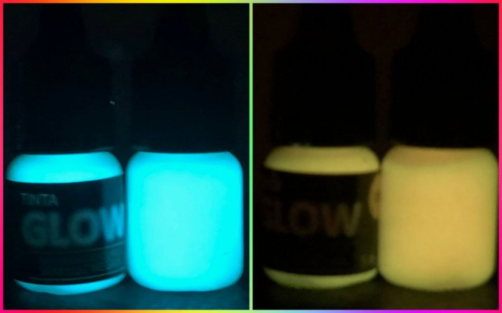Kit 2 Potes Glow 25ml: 1 Azul Neon+1 Laranja P/ Alça E Massa