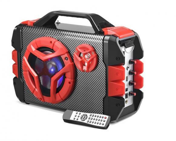 Caixa De Som Multiuso Bluetooth/ Microfone Com Alca 100w - Sp250