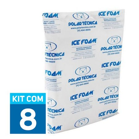 Gelo Artificial Espuma Ice Foam 1900g | Kit com 8 unidades IF1900