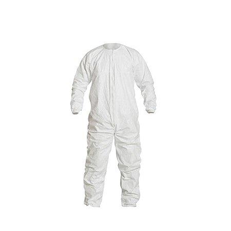Macacão Tyvek® IsoClean® estéril simples com costura reforçada IC253B