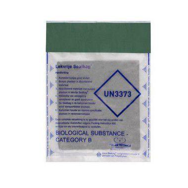 Bag UN3373-B + Manta Absorvente Tamanho A4 - Kit Com 5 Unidades
