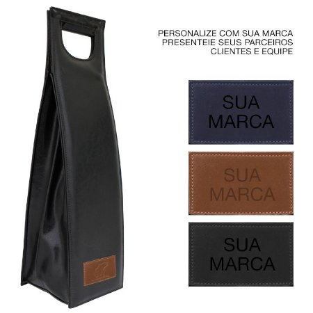 Bolsa para Vinho Térmica - Wine Deluxe Preta Personalizável - 10 Unidades