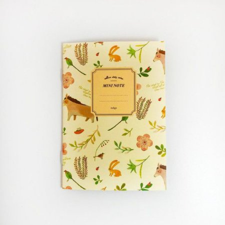 CADERNO MINI NOTE FLORES E BICHINHOS
