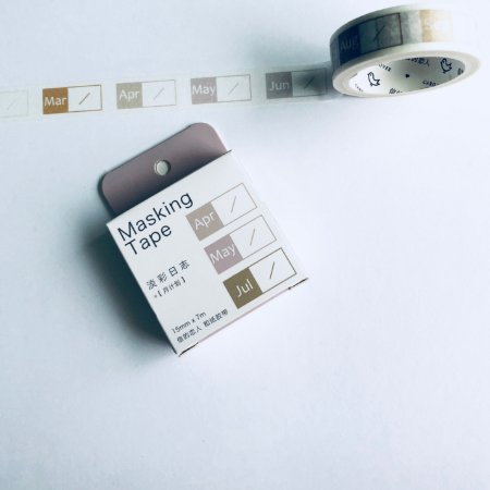 WASHI TAPE MONTH COLORIDO