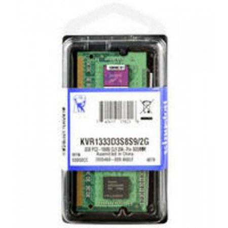 Memória Notebook  2GB DDR3 1333MHZ / PC3 10600 1.5V 204 Pinos KVR13S9S6 / 2 Kingston