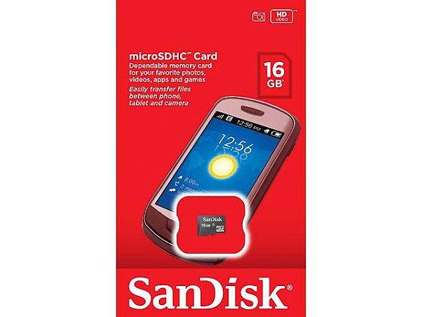 Cartão De Memória Micro SD 16Gb Sdsdqm-016G-B35A - Sandisk