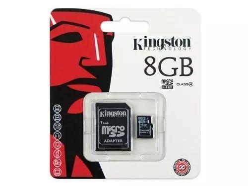 Cartao de Memoria Kingston SDC4/8GB Micro + 1 Adaptador SDC4/8GB