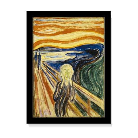 Quadro Decorativo Pintura Edvard Munch O Grito 1893 C/ Vidro