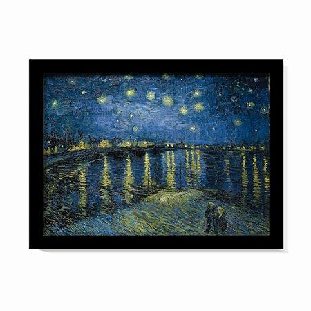 Quadro Noite Estrelada Sobre o Ródano Van Gogh