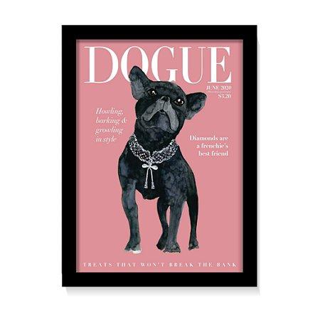 Quadro Decorativo Pet Dog Cachorro Buldogue Com Vidro