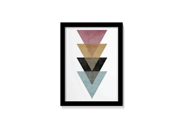 Quadro Triângulos & Cores Minimalista