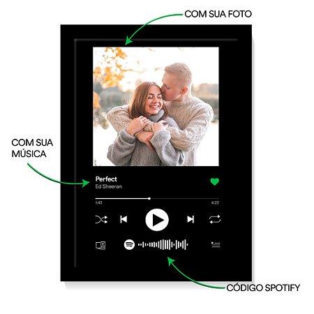 Quadro Spotify Interativo Música Personalizado