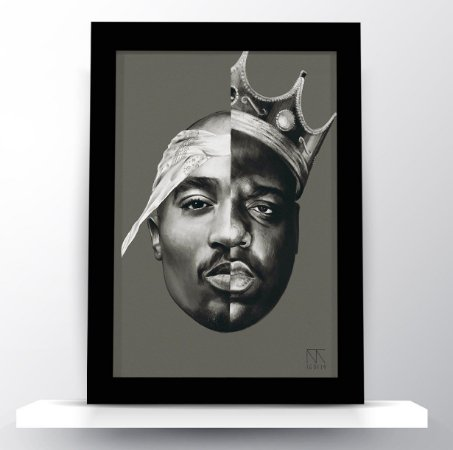 Quadro 2Pac & The Notorious B.I.G Art