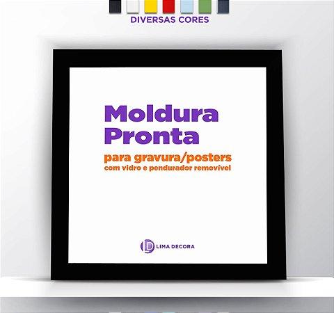 Moldura Quadrada Para Fotos, Gravuras e Posters - Varias Cores
