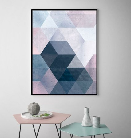 Quadro Geométrico Rosé
