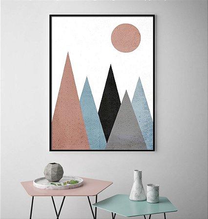 Quadro Montanhas Geométrico