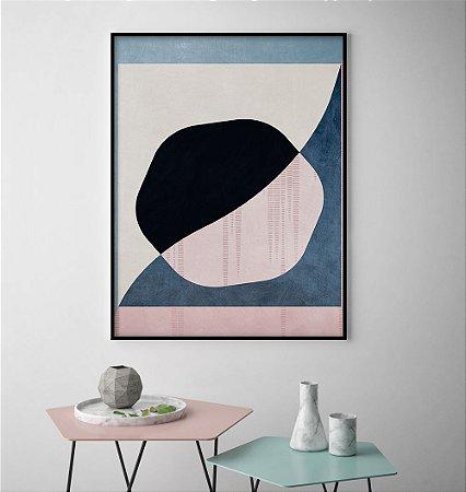 Quadro Círculos Rosé Abstrato