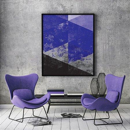 Quadro Geometric Purple Minimalista