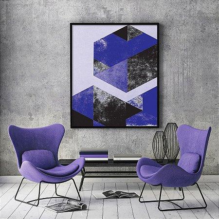 Quadro Geometric Diamond Purple Minimalista