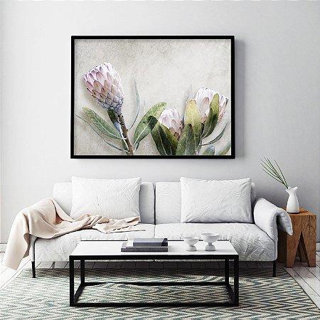 Quadro Flores Protea White Ice