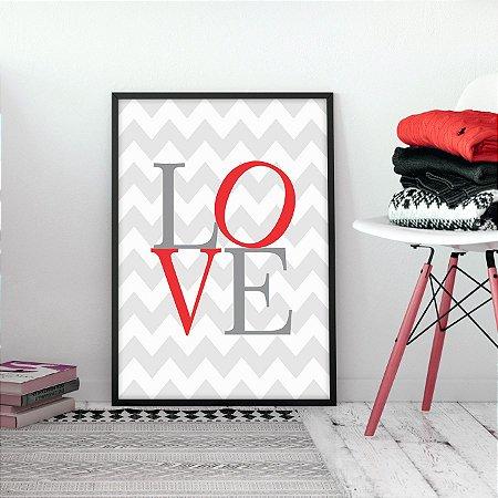 Quadro Love Listrado