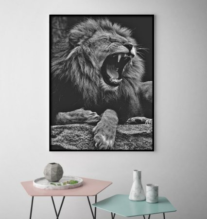Quadro Lion King Black And White