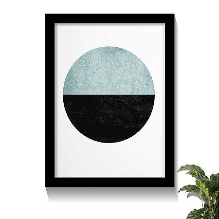 Quadro Moonlinght Tons Azuis Claros