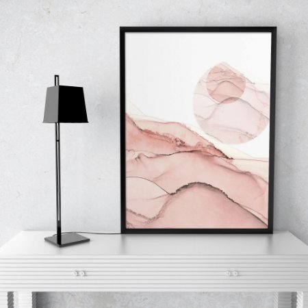Quadro Abstrato Rose Gold Elegance